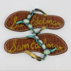 Sam Edelman Gracelyn Leather Flip Flop Sandal